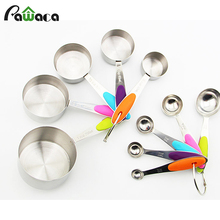 Convenient durable colorful Measuring Cup&Spoon Set/10PCS for party bakers kitchen tools measuring of flour sugar cooking tools