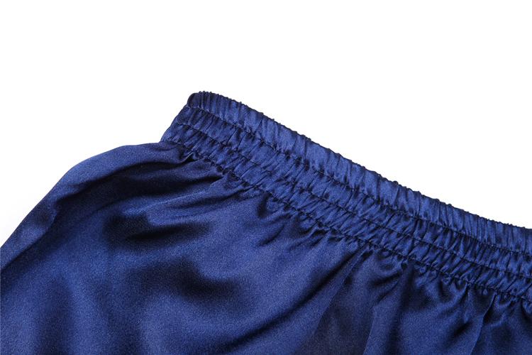 Men Sexy Silk Satin Sleep Bottoms Solid Lounge Pants Soft Pijama Short Summer Sleeping Shorts Home Pajama Pants Sleep Pants 7