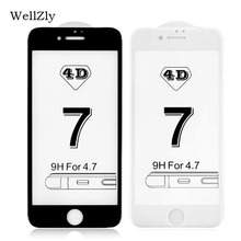 Buy Wellzly 9h glass iphone 6 4D, 3D iphone 8 plus hd glass screen protection film iphone 7 6s plus security glass film for $3.49 in AliExpress store