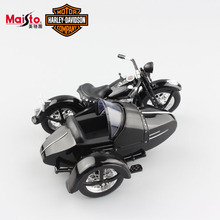 1:18 Scale Kids vintage Harley Davidson 1948 FL Panhead GLIDE side car collectible moto diecast motorcycle race toy for children