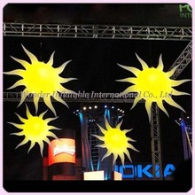 5ft new design light hanging event decoration inflatable sun with led(China)