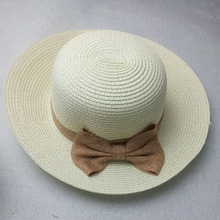 2016 FashionHigh-quality cheap Summer Straw Hat Cap Womens Ladies Foldable Wide Floppy Beach Hat Bowknot Sun Hat free shipping