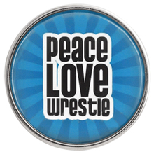 10pcs/lot Glass Printed Love Wrestle Button 18/20mm Live Wrestling Sport Snap Jewelry Fit DIY Charm Bracelet Wholesale C0844(China)