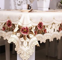 210#  square round hot embroidery Table clothe Table Cloth dinner desk mat cover polyester fashion home textile Dec
