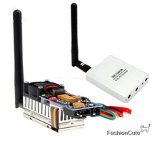 5.8G 2000MW 8CH FPV Wireless Transmitter TS582000 2Km Range AV Video Audio Sender + RC5808 FPV 5.8G 8CH Wireless AV Receiver