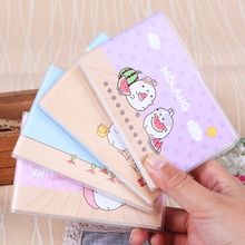 1PC Cartoon Animal Small Soft Covers Notebook Molang Love Fat Rabbit Portable Plastic Rubber Sleeve Notebook Students Stationery