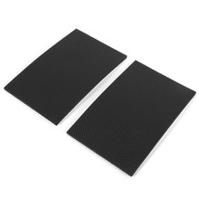 2pcs 9.8cmx15cm Black Non-slip Self Adhesive Floor Protectors Ottomans Furniture Sofa Desk Chair TRP Rubber Feet Pads