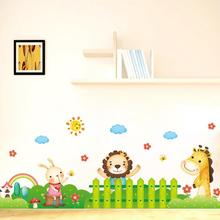 New Style Room Home Decor Cartoon Animal Wall Stickers Giraffe Decal Pegatinas Paredes Decoracion Wall Sticker Room Decoration