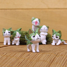6PCs/set Cheese Cat Toys Cute Japanese Action Figure Decoration Toy Models