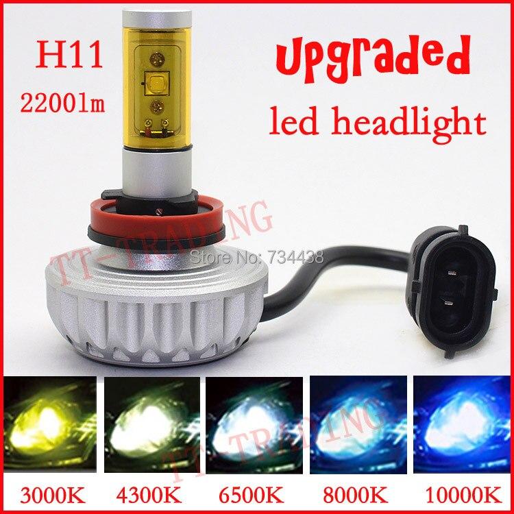 free shipping vehicle H11 LED Head light car LED head lamp cree 20w 2200lm H11 motorcycle head lights 12-24V 3000K 4300K 6500K<br><br>Aliexpress