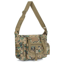 Men's Camouflage Messenger Bag Military Army Mountaineer Travel Duffle Multi-pocket Organizer Durable Shoulder Bag