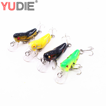 1pcs 5cm 3.5g Jump Locust Hard Lure For Sea Carp Fly Fishing Spinner Bait Accessories Jig Hooks Tool Wobblers Fish Sport lures(China)