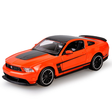 Mustang BOSS 302 Orange 1:24 Alloy Car Metal Racing Vehicle Play Collectible Models Sport Cars toys For Gift(China)