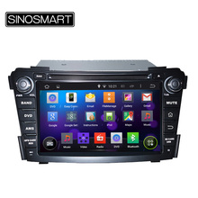 SINOSMART Updated 4 Core CPU 1.6GHz Android 5.1 Car DVD GPS Navigation for Hyundai I40 2011-2015 without Canbus