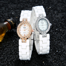 Luxury Brand Women Watch Quartz White Genuine Ceramic watches Lady  Water Resistant women wristwatches Dress clock Gold