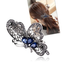 1 pc Blue Butterfly Luxurious Hair Clips Hairclips Hairgrips Hairpins Headwear BarrettesTrendy Animal Hair Accessoires for Women(China)