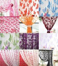 Butterfly String Curtain Fringe Door Window Panel Home Divider Tassel Multicolor