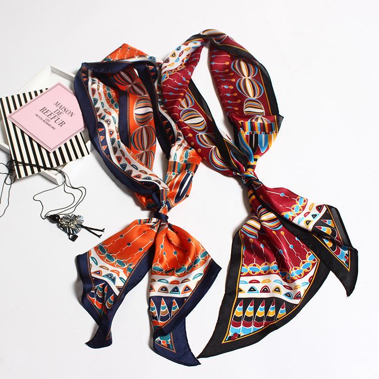 Silk Satin Tie Scarf | Skinny Scarves