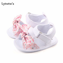 1 Pairs Lytwtw's Children Baby Kids Boys Shoes Non-Slip Canvas Bow-knot Toddlers Sandals Bebes Zapatos Ninas Newborn Infantil(China)
