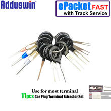 Adduswin 11pcs Auto Car Plug Circuit Board Wire Harness Terminal Extractor Pick Connector Crimp Pin Back Needle Remove Tool(China)
