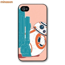 minason Starwars BB-8 Droid Robot BB8 Cover case for iphone 4 4s 5 5s 5c 6 6s 7 8 plus samsung galaxy S5 S6 Note 2 3 4 D4126(China)
