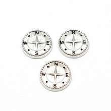 Buy Hot Sale 10pcs/lot Silver Enamel Compass Floating Charms Living Glass Memory Floating Lockets Bracelet DIY Jewelry for $1.43 in AliExpress store