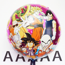 5pcs/lot 45*45cm Dragon Ball Balloons Dragonball Foil Air Balloon For Birthday Party Inflatable Globos Boys Classic Toys(China)