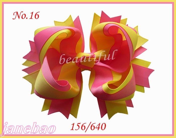 free freight  2018 Newest 36 pcs Good Girl Boutique 5.5 Inch Complex Windmill 2 Tone Hair Bows Clip