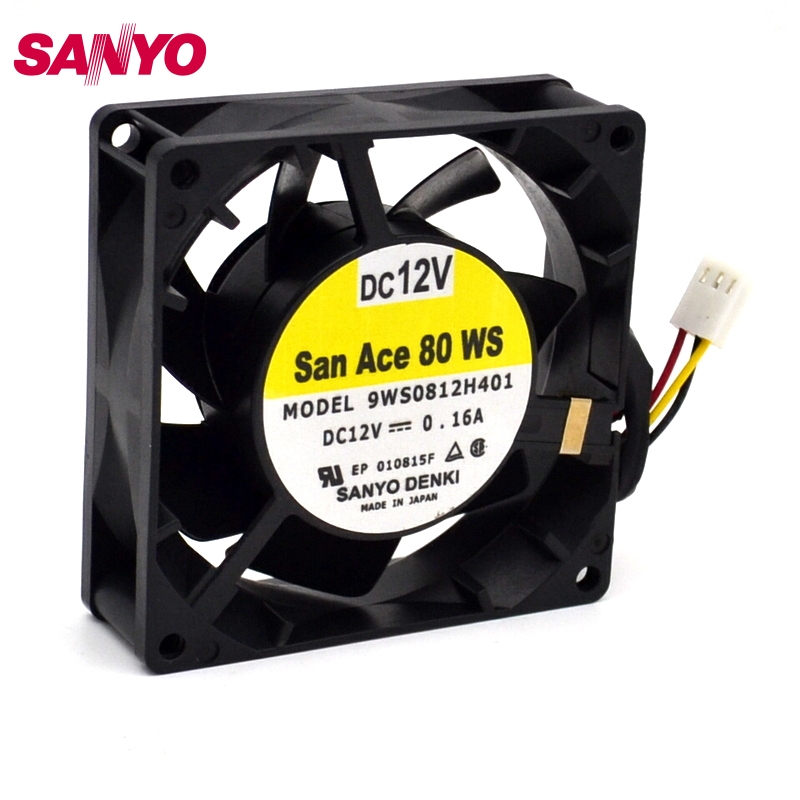 SANYO  New and original power supply module fan 9WF1224H1D03 original gold-plated plug  120 *120 *38mm<br>