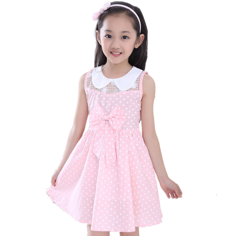 Summer Childrens Dresses Kids Dress for Girls 2017 Infant Sleeveless Polka Dot Princess Dress Casual Costumes Baby Girl clothes<br><br>Aliexpress