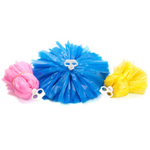 2 X Multi Color Pom Poms Cheerleader Pompoms Dance Party Fancy Dress School Team Ceremony Game Match Cheer 29cm 70g 080-085