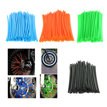 72pcs Motorcycle Motocross Dirtbike Wheel Rim Wrap Cover Kit Skin Covers Universal Green, Black, Blue, Orange
