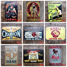 Gilmore Gasoline Texaco Motor Oil Metal Tin Signs For Car Bus Club Garage Vintage Home Decor Wall Art Painting Poster YQZ019