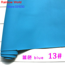 13# blue Micro Lychee Pattren high quality 1.2mm thick PU Leather fabric for DIY cars table bags bed material (140*50cm)