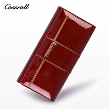 Buy COSSROLL Women's Purses Wallets Original Leather Women Wallets Hasp Coin Pocket Female Clutch Wallet Woman Passport Cover for $16.87 in AliExpress store