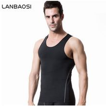 Men's Compression Gear Breathable Quick-Drying Vest Tank Top Body Shaper Running Workout Compression Underwear Boxing Jerseys(China)