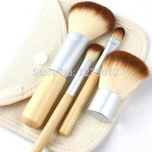 1set/4Pcs Professional Foundation Make up Bamboo Brushes Kabuki Makeup Brush Cosmetic Set Kit Tools Eye Shadow Blush Brush