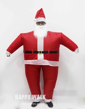 Free Shipping 2017 Hot Selling Christmas Inflatable Costume Santa Claus Hat Clothing & Accessories Suits False Beard 3 Package
