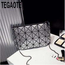 Women Plaid Laser Bag Geometric Shoulder Bags Casual Mini Clutch Bao Bao Makeup Crossbody Bags for Women Messenger Bag BaoBao