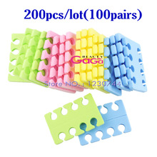 BNG 200pcs/lot Toe Separator Soft Sponge EVA Foam Finger Bracket Nail Art Salon Pedicure Manicure Tool Beauty Nail Feet Care