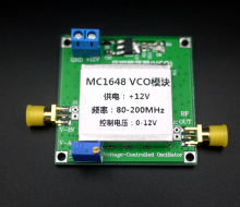 DC 12V 80-200MHz MC1648 VCO RF Transmitter Module Audio Input RF Amplifier Board