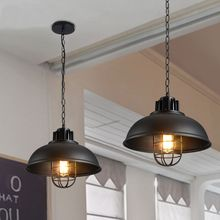 American Loft Vintage pendant light Wrought Iron retro hanging Lamp Edison nordic restaurant light industrial lighting fixtures