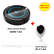 2017 Wifi APP Baby Monitor Smart Camera And A338 Schedule Robot Vacuum Cleaner for home (Sweep,Vacuum,Mop,Sterilize,Roll) Vacuum
