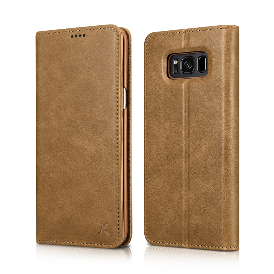For Samsung Galaxy S8 S8 Plus Luxury Genuine Leather Magnetic Flip Wallet Case (9)
