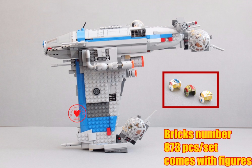 New The Resistance Bomber Star wars model Building Blocks Bricks Toys 75188 compatible legoes gift kid set star wars diy boys<br>