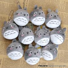 Ghibli Miyazaki Hayao My Neightor Totoro Cute Cat Totoro Plush Toy with Key Ring Stuffed Animal Doll 8cm 10pcs/lot 3 Styles