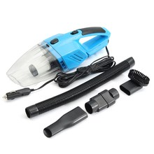 Black Blue Handheld Wet & Dry Dual Use Car Vacuum Cleaner Portable Rechargeable  Auto Home DC12V 120W