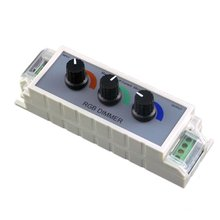 12-24V 9A RGB 3CH PWM RGB LED Dimmer Controller with 3 Channel Output for Multi-Color and Single Color Strip Lights(China)