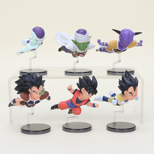 6pcs/set Anime Dragon Ball Z The Historical Characters WCF DragonBall PVC Action Figure Collection Model Toy Doll Gifts