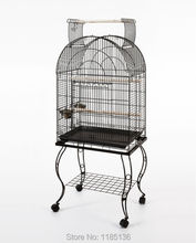 Large Bird Cage Open Top Parrot Metal Cage Finch Macaw Cockatoo Black Vein B10X(China)